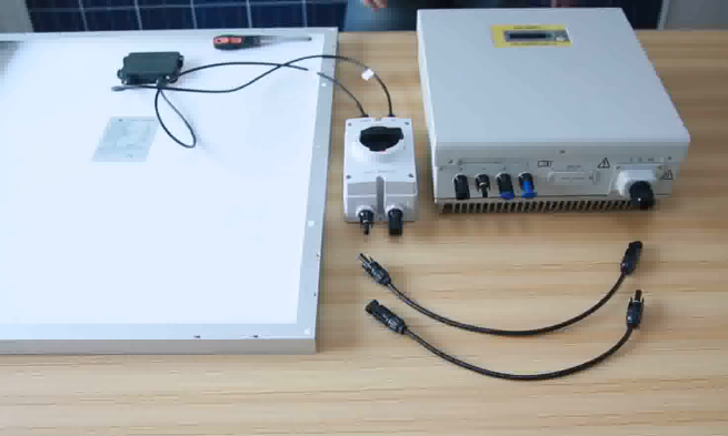 Connect Solar Panels to Grid-Tie Inverter